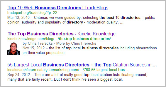 Authorship Demonstrated In SERPs